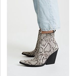 ISO! Jeffery Campbell Homage Snakeskin Booties!